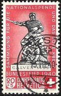 Schweiz Suisse 1940:  Calven 1499 Variante HELLROT ROUGE-CLAIR Zu 5c Mi 366a Yv 351a O LIESTAL 13.VIII.40 (Zu CHF 50.00) - Suisse