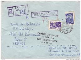 """Lettre De RUSSIE - Verifiée Par Les Douanes Françaises Avec Griffe """" Centre Douanier IXI ARR 14 Admis Sans Visite Paris - Marcophilie (Lettres)"""