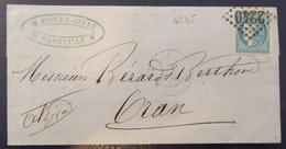 France Bordeaux YT N° 45 Type III Oblitéré Sur Lettre. Premier Choix. A Saisir! - 1870 Emissione Di Bordeaux