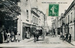 N°65029 -cpa Bléré -rue De Loches- - Bléré