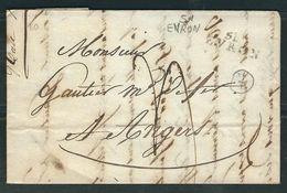 FRANCE 1811 Marque Postale Taxée Evron - Poststempel (Briefe)