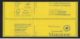 Carnet Sagem LP  Marianne L'engagée. - Carnets