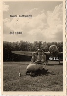 Photographie Originale  HE 111 Escadre KG 27 Tours Parcay Meslay Occupation  Guerre Luftwaffe  1940 2/3 - 1939-45