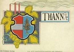 THANN (68, Alsace) - Carte Postale - Le Blason. Voir Déscription Complète. (2 SCANS) - Thann