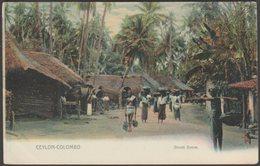 Street Scene, Colombo, Ceylon, C.1910 - Plâté & Co Postcard - Sri Lanka (Ceylon)