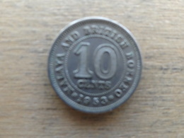 Malaya  Britich  Borneo  10  Cents 1953  Km 2 - Malaysia