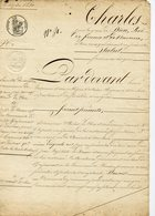 143. SOUS CHARLES X. ACTE NOTARIE NOTAIRE DE MORLAIX 1830 - Autographs