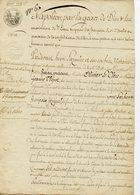 SOUS NAPOLEON 1er. ACTE NOTARIE NOTAIRE DE MORLAIX 1810. CACHET DORé DU TRIBUNAL CIVIL - Autographs