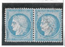 TIMBRES N° 60/1 ;  PAIRE  18/19  B2  ,BIEN CENTRÉS, TTB - 1871-1875 Cérès