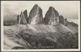 Tre Cime Di Lavaredo, Alto Adige, C.1920s - Ghedina Foto Cartolina - Italy