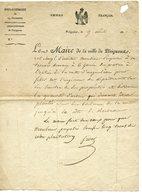 PERIGUEUX SOUS NAPOLEON 1er. LETTRE DE LA MAIRIE DATEE 1813. LIMITES D'UNE PROPRIETE - Autographs