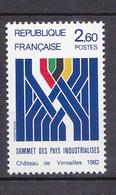 N° 2214 Sommet Des Pays Industrialisé Château De Versailles: 1   Timbre Neuf Impeccable Sans Charnière - Frankrijk