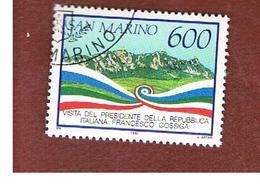 SAN MARINO - UNIF. 1288  - 1990 VISITA DEL PRESIDENTE ITALIANO COSSIGA -  USATI (USED°) - San Marino