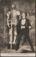 Comic - I'd Like To Make You Quake, C.1905 - Rotary Photo RP Postcard - Humour