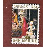 SAN MARINO - UNIF. 1308  - 1990 NATALE: PRESEPE CUCINIELO, NAPOLI           -  USATI (USED°) - San Marino
