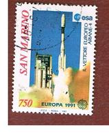 SAN MARINO - UNIF. 1309  - 1991  EUROPA: LO SPAZIO  (VETTORE ARIANE 4)           -  USATI (USED°) - Used Stamps