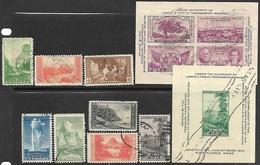 US  1934-7  8 National Parks & 2 Souv Sheets Used  2016 Scott Value $7.35 - Oblitérés