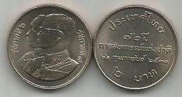 Thailand 2 Baht 1988 (2531) Y#204 72nd Anniversary Of Thai Cooperatives - Thaïlande