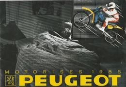 Très Beau Catalogue De Cyclomoteurs PEUGEOT Année 1985 - Motos