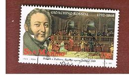 SAN MARINO - UNIF. 1336  - 1992  G. ROSSINI: BIANCA E FALLIERO   -  USATI (USED°) - San Marino