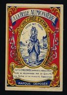 """Ancienne Etiquette Chicorée  Extra """" A La Belle Aumonière""""  100Gr - Fruits Et Légumes"""