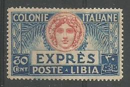 Figure Allegorique De Italie 30c Blue Et Rouge - Libia