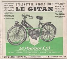 Cyclomoteur LE GITAN - Cycle Gitane à MACHECOUL 44 - Moto