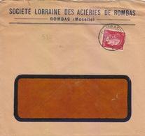 Lettre à Entête Des Aciéries De Rombas (T325 Rombach C) TP Reich 12pf=1°éch Le 13/1/42 - Marcophilie (Lettres)