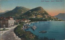 Schweiz - Lugano - Quai E Monte Bre - Ca. 1920 - TI Tessin