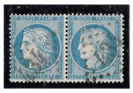 TIMBRES N° 60/1 ;  PAIRE  13/14 B2  , TTB - 1871-1875 Cérès