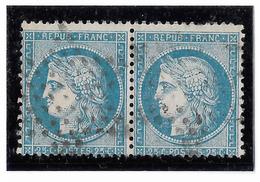 TIMBRES N° 60/1 ;  PAIRE  46/47 B2  , TTB - 1871-1875 Cérès