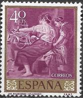 SPAIN 1959  Stamp Day And Velazquez Commem - 40c. The Spinners MNH - 1931-Hoy: 2ª República - ... Juan Carlos I