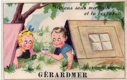 """GERARDMER - Dépliant 10 Vues - Viens Sous Ma Tente Et Tu Verras... """"GERARDMER""""..   .. (1456 ASO) - A Systèmes"""