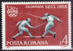 ROUMANIE   N° 3818   * *  JO   1988   Escrime - Fencing