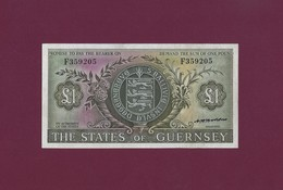 Guernsey 1 POUND 1969 - 1975 P-45 XF RARE ( UK GREAT BRITAIN ISLE OF MAN ) - Autres