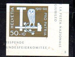 533/1500 - SVIZZERA 1960 ,  Unificato N. 665A  ***  MNH 50mo Pro Patria - Pro Patria
