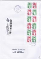 TP N°5183x6+5184x6 (CARNET 1524)  SUR LETTRE RECOMMANDEE DU 20.11.17 - 1977-81 Sabine Van Gandon