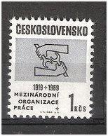 Czechoslovakia 1969 50 Years International Labor Organization (ILO), Mi 1853 MNH(**) - Czechoslovakia