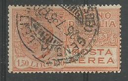 Effigie De Victor Emanuel Lll 1l 50 Jaune Brun - 1900-44 Victor Emmanuel III