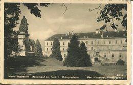 005575  Wiener-Neustadt - Maria Theresien-Monument Im Park D. Kriegsschule - Wiener Neustadt