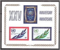 United Nations 1970 25 Years UN, Mi Bloc 5 MNH(**) - New York -  VN Hauptquartier