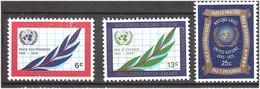 United Nations 1970 25 Years UN, Mi 226-228 MNH(**) - New York -  VN Hauptquartier
