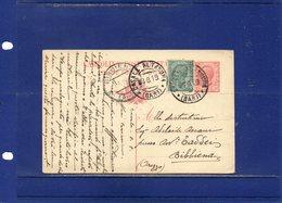 ##(DAN189)-1919-Cartolina Post Cent.10 Mill.18 Filagrano C39 Da  Casale Altamura (Bari) Per Bibbiena-Arezzo - Marcophilie