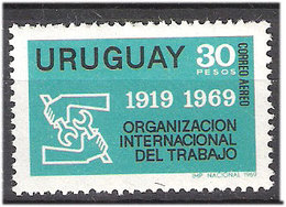 Uruguay 1969 50 Years International Labor Organization (ILO), Mi 1151 MNH(**) - New York -  VN Hauptquartier