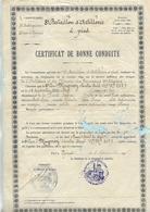 Militaria / Certificat De Bonne Conduite 1908 / 8ème Bataillon Artillerie à Pied  / 88 EPINAL C. MUGNEY N° 3489 - Dokumente
