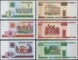 Belarus SET - 1 5 10 20 50 100 Rublei 2000 - UNC - Bielorussia