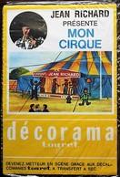 DECORAMA DECALCOMANIES TRANSFERT TOURET - Jean Richard - Mon Cirque - Old Paper