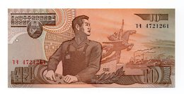 Corea Del Nord - 1998 - Banconota Da 10 Won - Nuova - (FDC12193) - Corea Del Nord