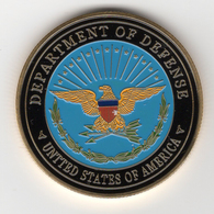 Militaria_Pièce Commémorative Coin_02_Department Of Defense USA_Army – Navy - Air Force Marines - The Pentagon - Army & War