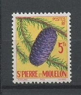 SPM MIQUELON 1958 N° 359 ** Neuf MNH Superbe Cote 4,80 € Flore Arbre Cônes Trees Flora Picéa - St.Pedro Y Miquelon